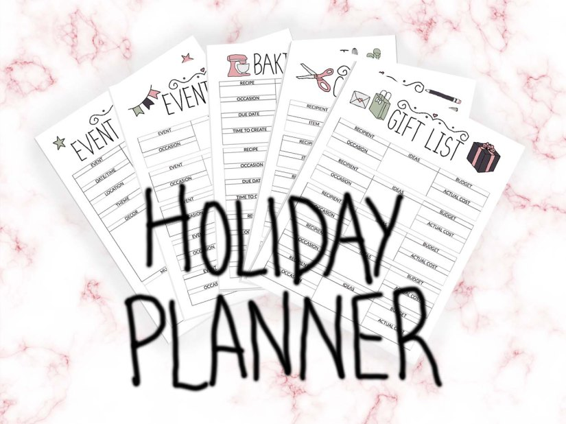 Holiday Planner Printable