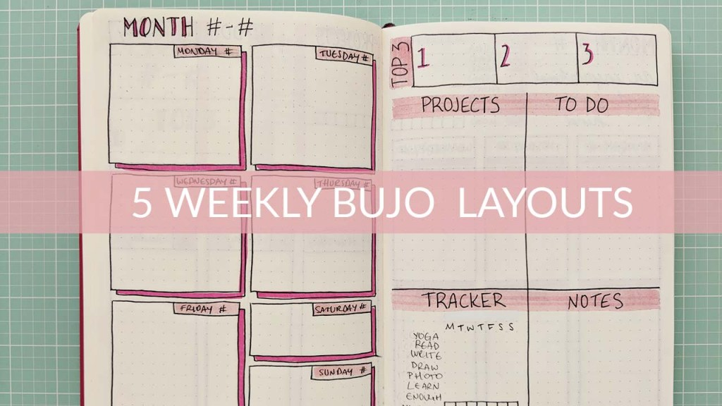 5 Weekly Bullet Journal Layouts